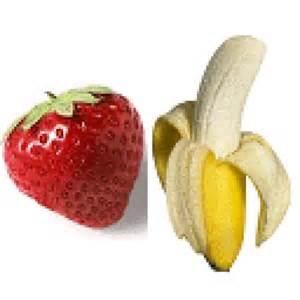 Sorbetto di Banana e Fragola col Bimby